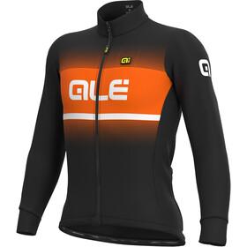 Alé Cycling Solid Blend Winter Maglia Jersey A Maniche Lunghe Uomo, nero/arancione
